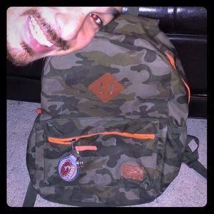 Old Navy orange and camouflage boys backpack